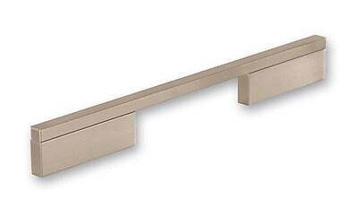 Siro Designs Quadra 6 3/10'' Center Bar Pull; Fine Brushed Nickel