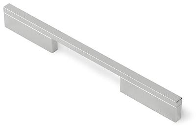Siro Designs Quadra 6 3/10'' Center Bar Pull; Bright Chrome