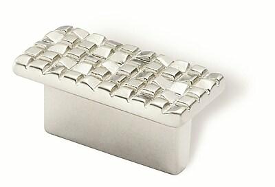 Siro Designs Mosaic 1 1/4'' Center Finger Pull; Matte Nickel