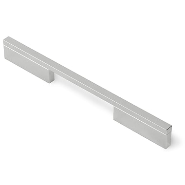 Siro Designs Quadra 15 1/10'' Center Bar Pull; Bright Chrome