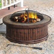 Sunjoy Tecumseh Aluminum Wood Burning Fire pit