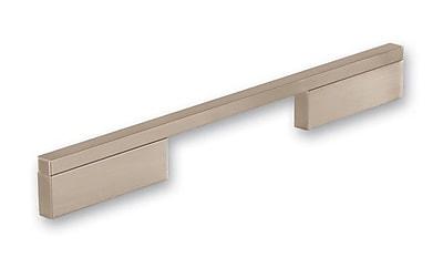 Siro Designs Quadra 25 1/5 '' Center Bar Pull; Fine Brushed Nickel