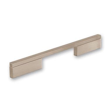 Siro Designs Quadra 8 4/5 '' Center Bar Pull; Fine Brushed Nickel