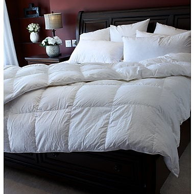 Royal Elite Canadian White Down Duvet, 400 Thread Count, Queen, 35 Ounces