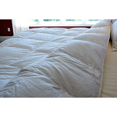Royal Elite Canadian White Down Duvet, 400 Thread Count, King, 30 Ounces