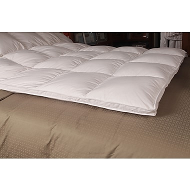 Royal Elite Down-top Featherbed, 233 Thread Count, Twin, 8 Pounds