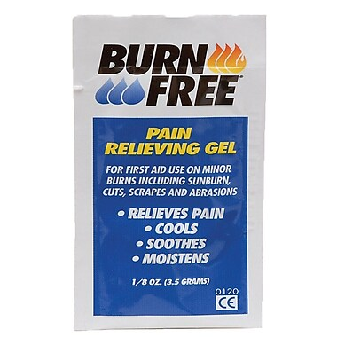 BurnFree Pain Relieving Gel, 3.5 gm Sachets, 1000/Pack