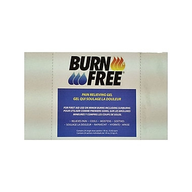 BurnFree Pain Relieving Gel, 3.5 gm Sachets, 24/Pack