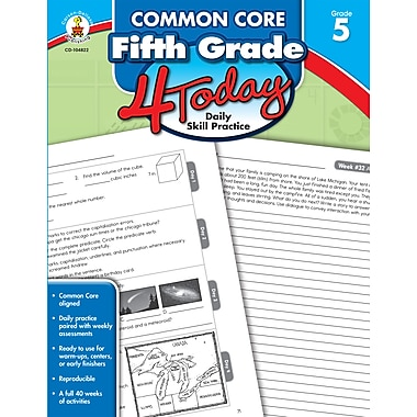 Common Core Fifth Grade 4 Today: Daily Skill Practice