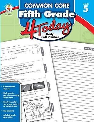 Common Core Fifth Grade 4 Today: Daily Skill Practice