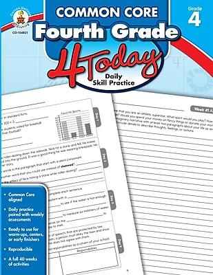 Common Core Fourth Grade 4 Today: Daily Skill Practice