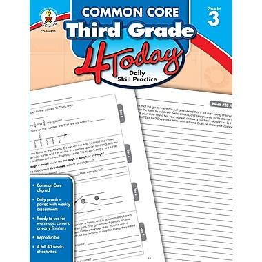 Carson-Dellosa Common Core Third Grade 4 Today: Daily Skill Practice (104820)