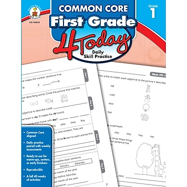 Carson-Dellosa Common Core First Grade 4 Today: Daily Skill Practice (104818)