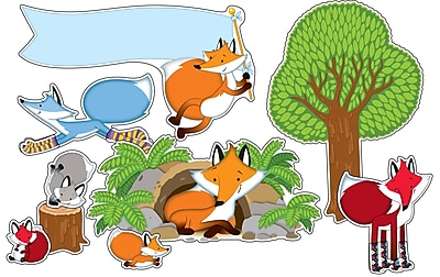 Carson Dellosa Playful Foxes Bulletin Board Set (PreK - Grade 5)