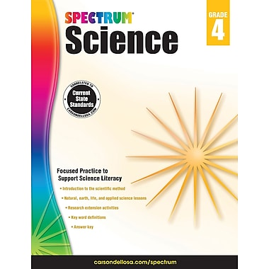Carson-Dellosa Spectrum Science Workbook, Grade 4 (704617)