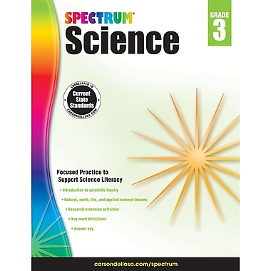 Carson-Dellosa Spectrum Science Workbook, Grade 3 (704616)
