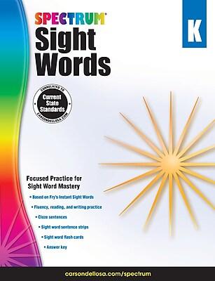 Spectrum Sight Words (Grade K)