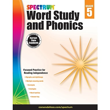 Carson-Dellosa Spectrum Word Study and Phonics, Grade 5 (704608)