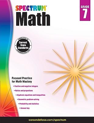Spectrum Math Workbook (Grade 7)