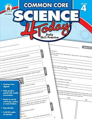 Carson-Dellosa Common Core Science 4 Today Daily Skill Practice (Grade 4)