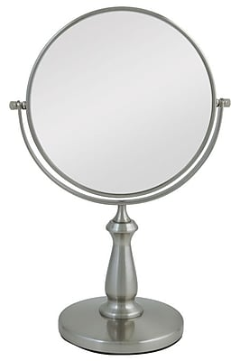 Zadro Stainless Steel Two-Sided Vanity Swivel Mirror 13.5