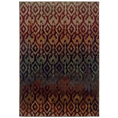 StyleHaven Tribal Red/ Multi Indoor Machine-made Polypropylene Area Rug (6'7