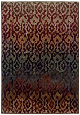 StyleHaven Tribal Red/ Multi Indoor Machine-made Polypropylene Area Rug (3'10