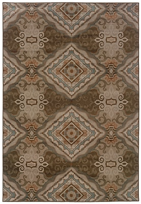 StyleHaven Oriental Grey/ Brown Indoor Machine-made Polypropylene Area Rug (6'7
