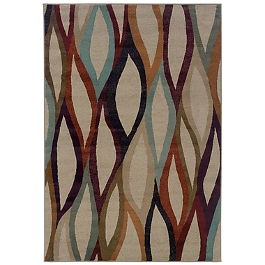 StyleHaven Abstract Grey/ Multi Indoor Machine-made Polypropylene Area Rug (3'10