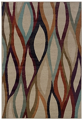 StyleHaven Abstract Grey/ Multi Indoor Machine-made Polypropylene Area Rug (6'7