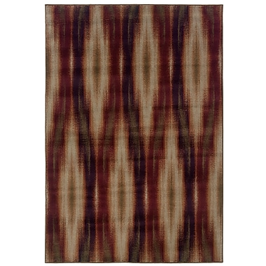 StyleHaven Tribal Ikat Grey/ Red Indoor Machine-made Polypropylene Area Rug (5'3
