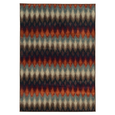 StyleHaven Geometric Ikat Multi/ Stone Indoor Machine-made Polypropylene Area Rug (5'3