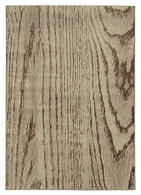 StyleHaven Wood Grain Stone/ Brown Indoor Machine-made Polypropylene Area Rug (6'7