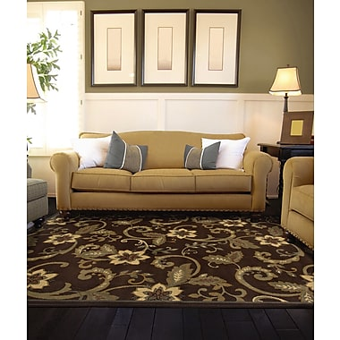 StyleHaven Border Brown/ Ivory Indoor Machine-made Polypropylene Area Rug (8'2