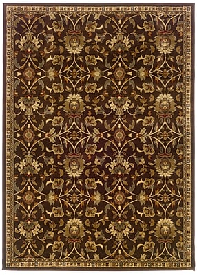 StyleHaven Floral Brown/ Beige Indoor Machine-made Polypropylene Area Rug (5' X 7'6