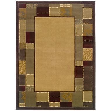 StyleHaven Geometric Beige/ Brown Indoor Machine-made Polypropylene Area Rug (5' X 7'6