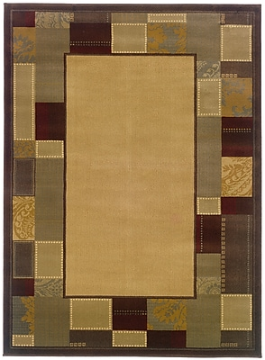 StyleHaven Geometric Beige/ Brown Indoor Machine-made Polypropylene Area Rug (8'2
