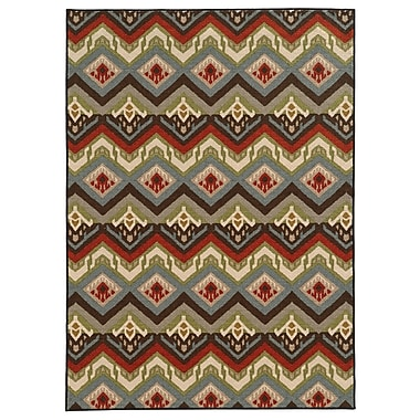 StyleHaven-Geometric Multi/ Multi Indoor Machine-made Nylon Area Rug (3'3