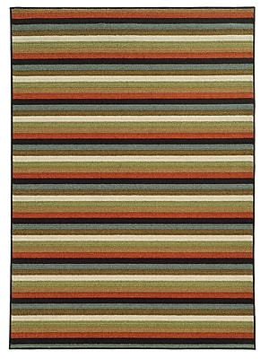 "StyleHaven Geometric Multi/ Multi Indoor Machine-made Nylon Area Rug (6'7"" X 9'3"")"