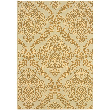 StyleHaven Floral Ivory/ Gold Indoor/Outdoor Machine-made Polypropylene Area Rug (7'10