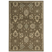 "StyleHaven Floral Brown/ Beige Indoor Machine-made Polypropylene Area Rug (5'3"" X 7'3"")"