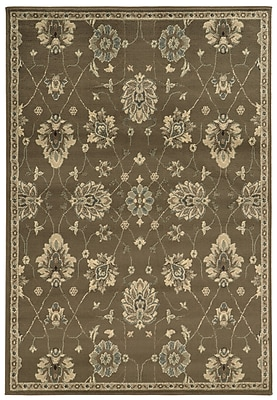 StyleHaven Floral Brown/ Beige Indoor Machine-made Polypropylene Area Rug (3'3