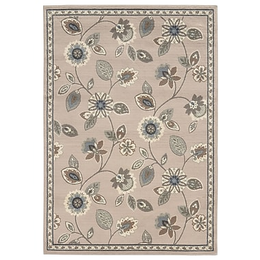 StyleHaven Floral Stone/ Blue Indoor Machine-made Polypropylene Area Rug (3'3