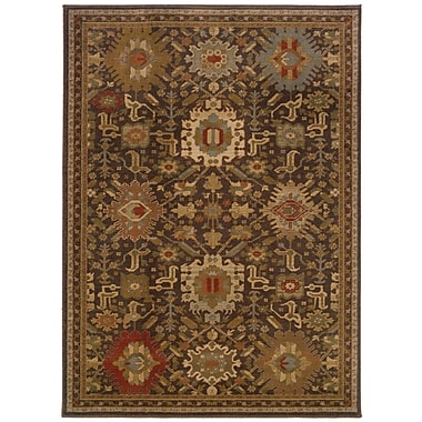 StyleHaven Oriental Brown/ Multi Indoor Machine-made Nylon/Polypropylene Area Rug (7'10