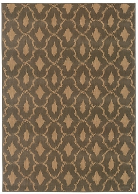 StyleHaven Geometric Blue/ Ivory Indoor Machine-made Nylon/Polypropylene Area Rug (6'7