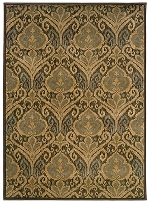 StyleHaven Floral Green/ Ivory Indoor Machine-made Nylon/Polypropylene Area Rug (3'10