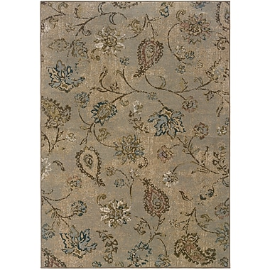 StyleHaven-Distressed Old World Blue/ Beige Indoor Machine-made Polypropylene Area Rug (7'10