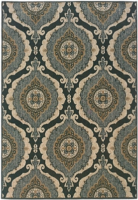 StyleHaven Distressed Old World Blue/ Ivory Indoor Machine-made Polypropylene Area Rug (6'7