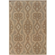 "StyleHaven Distressed Old World Blue/ Beige Indoor Machine-made Polypropylene Area Rug (3'10"" X 5'5"")"