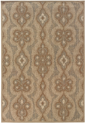 StyleHaven Distressed Old World Blue/ Beige Indoor Machine-made Polypropylene Area Rug (7'10